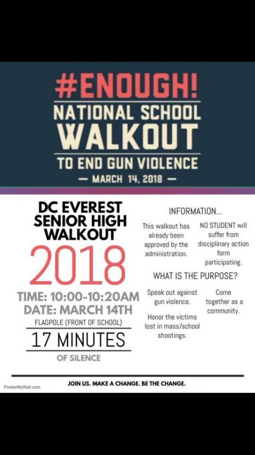 D.C.E Students Walk Out to Honor the 17 Lives Lost in Shooting