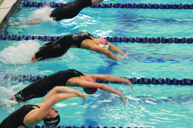 D. C. Everest Girls Swimming Team swim their way to state.