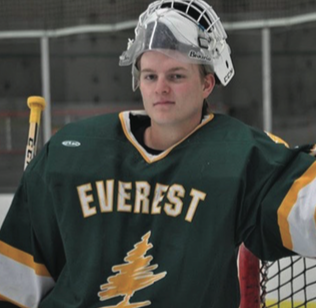 Michael Janke, goalie on D.C. Everest Boys Hockey Team.