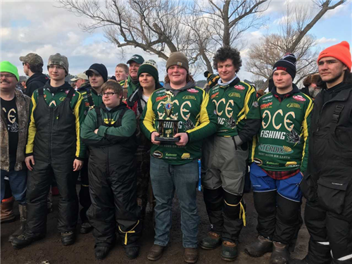 Fishing team wins ninth at the 2018 WIFA High School State Ice Fishing Championship. This is the third year that they have won.