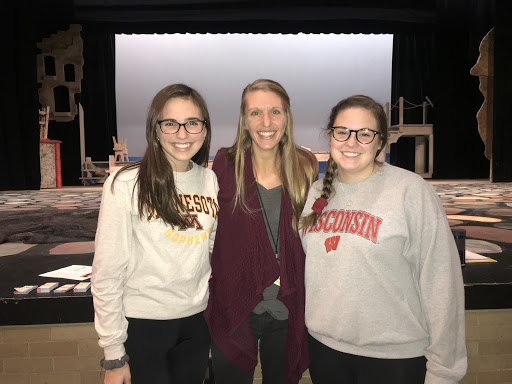 Senior Maddie Krolow and Libby Radies photoed with social studies teacher Kate Wollersheim. They are leading the new club to debut at D.C. Everest Senior High, Citizen Student Movement.  Photo taken by Alli Heckert.