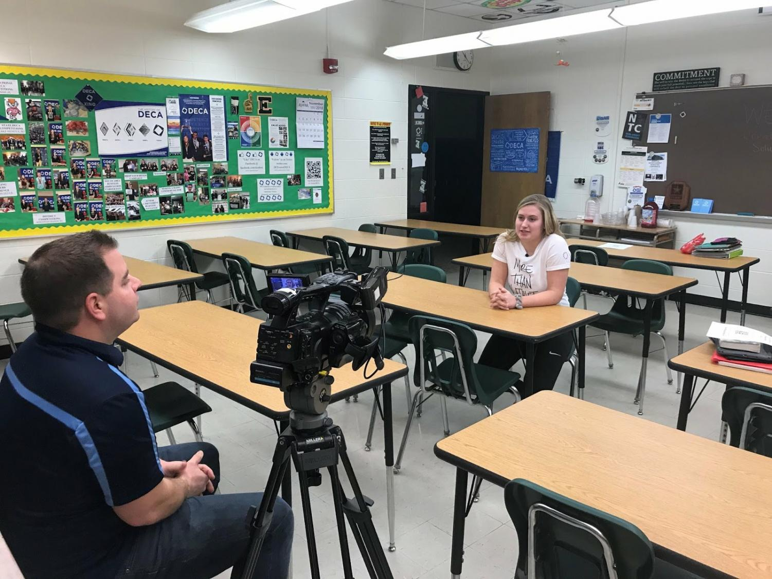 Anderson was featured in WAOW News 9, and hopes to make her account a national movement. Photo courtesy of Gabby Anderson