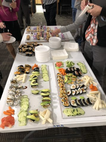 Foods II Makes Snack Table For Faculty Meeting